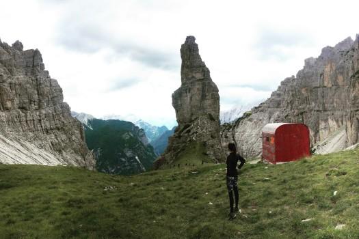 Celebrating in Dolomites